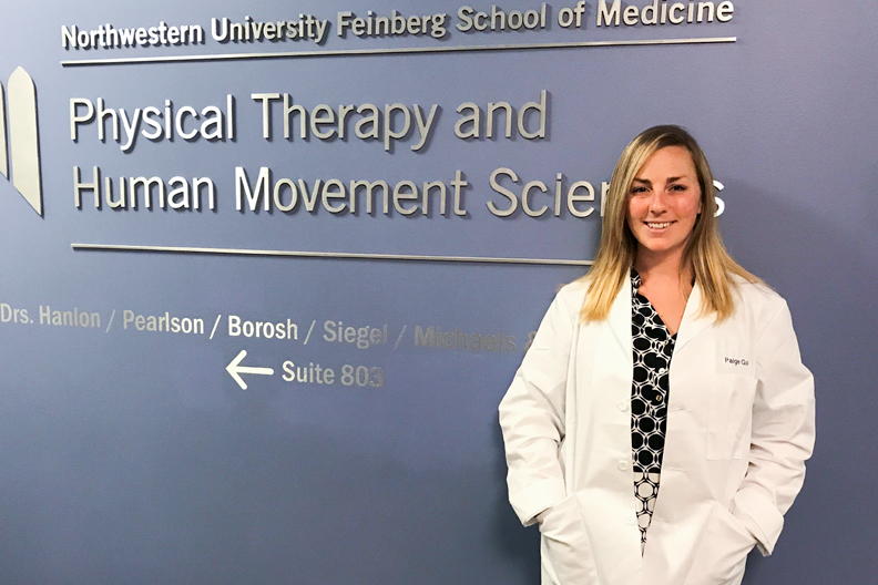 Paige Lutz Golden, physical therapy program at Northwestern University