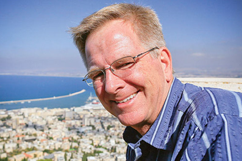 rescheduled rick steves to present travel as a political act on