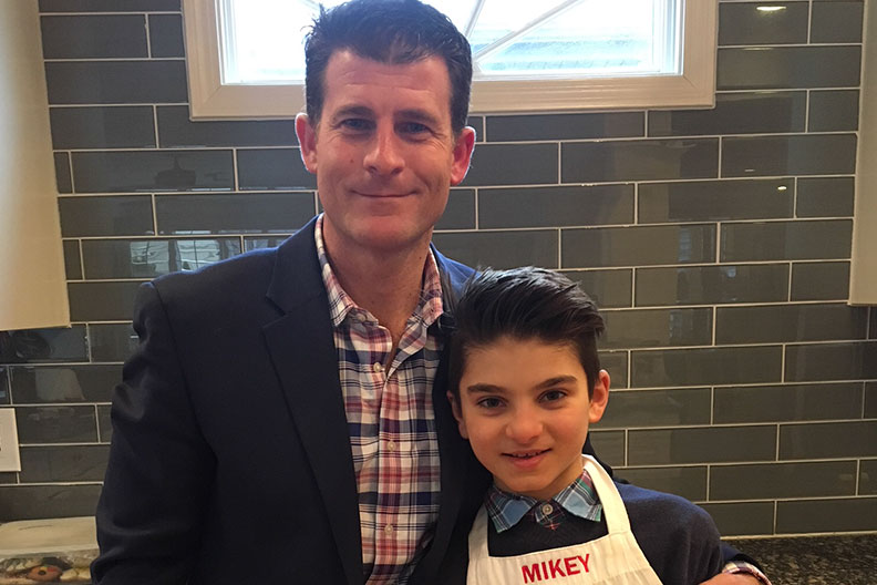 Coach Dave DiTomasso and his son, who appeared on MasterChef Junior.