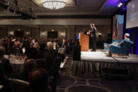 Governor Jeb Bush speaks to a sold-out crowd at the 11th Annual Elmhurst College Governmental Forum