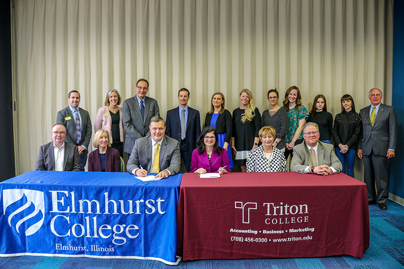 Elmhurst College, Triton College Create 2+2 For Business Students
