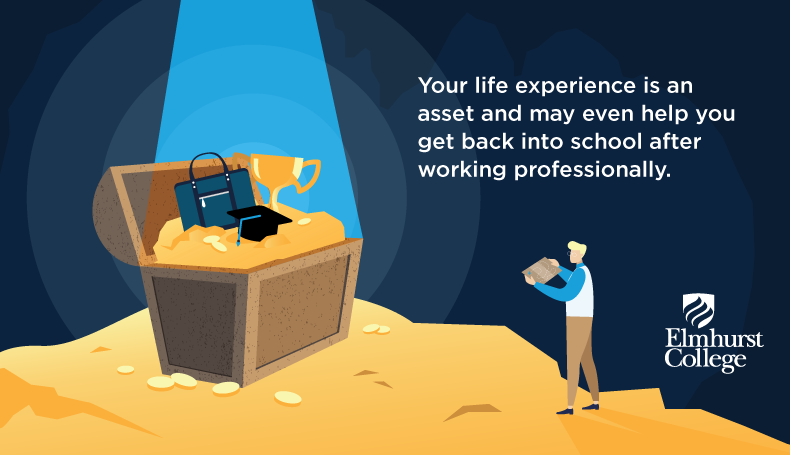 Going back to school as an adult can be nerve-racking, but your professional experience is a huge asset.