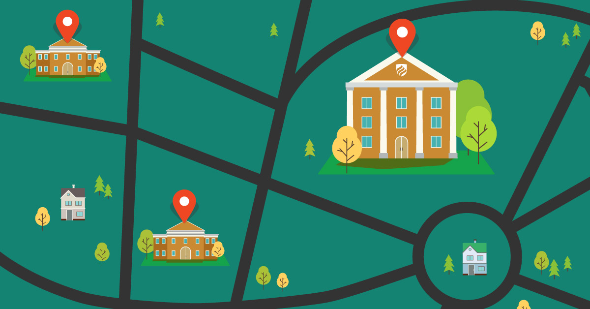 """How to Find the Best Colleges Near Me"" illustration"