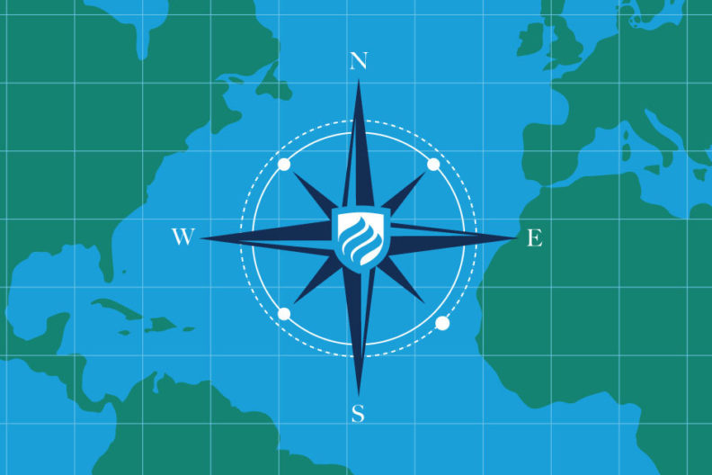 A world map is shown in this illustration for 5 tips for teaching AP Human Geography class.