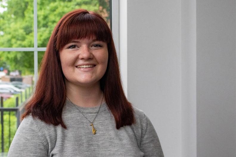 Elmhurst College student Emma Germann is studying music education.