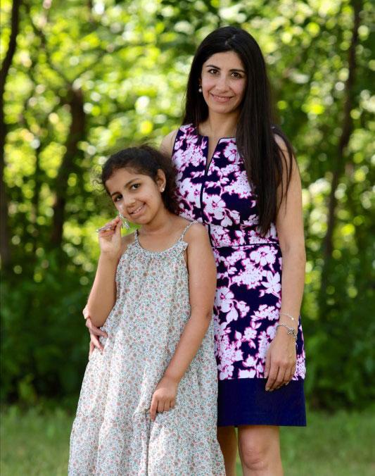 Elmhurst College student Natalia Wehr with her daughter, Sabrina.