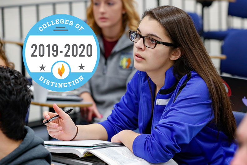 Elmhurst College was again recognized by Colleges of Distinction for academic excellence in 2019.