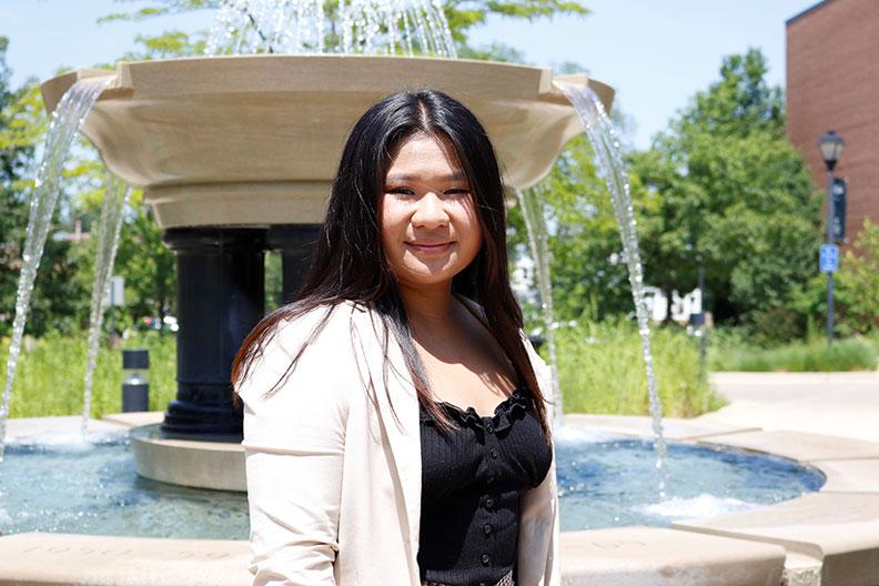 Elmhurst College student Alissa Bulaon secured an internship with Ulta Beauty.