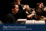 The High School Invitational is part of Elmhurst College's annual Jazz Festival.
