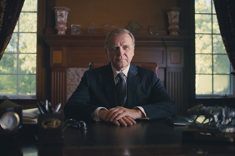 """Succession"" and ""Veep"" actor David Rasche is shown on the set of his film ""Father Figurine."""