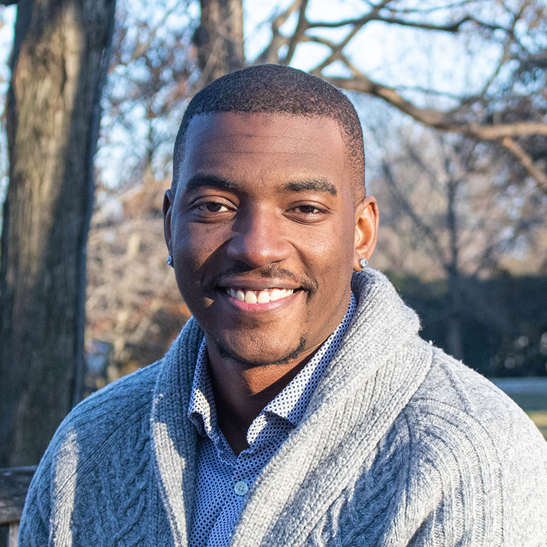 A photo of Elmhurst College Admission Counselor Femi Oyewole.