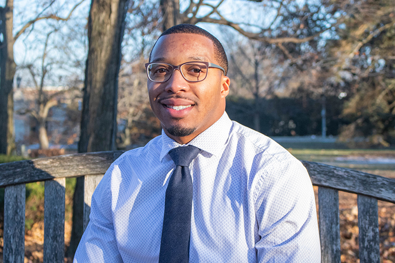 A photograph of Elmhurst College Director of Alumni Engagement Scottie Williams.