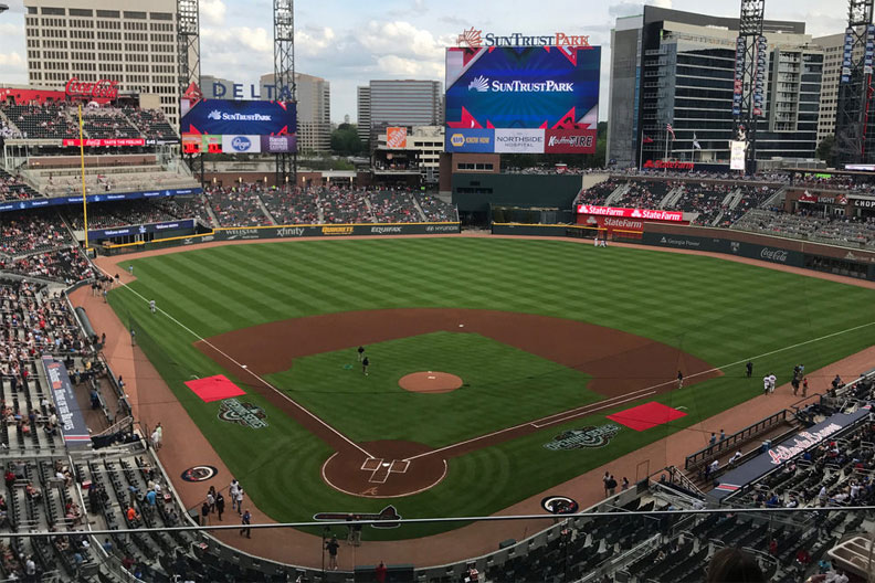 A photo of SunTrust Park in Atlanta, Georgia.
