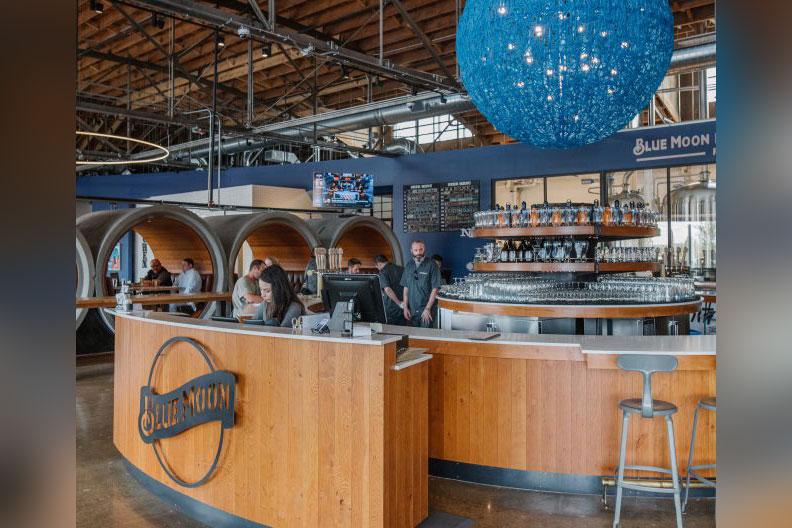 A photo of Blue Moon Brewing Company in Denver, Colorado.