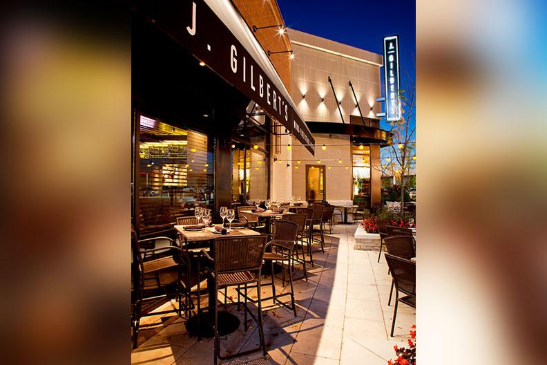 A photo of J. Gilbert's restaurant in St. Louis, Missouri.