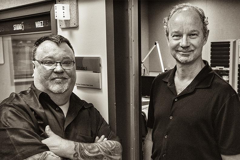 A publicity photo of Sound Opinions co-hosts Jim DeRogatis, left, and Greg Kot.