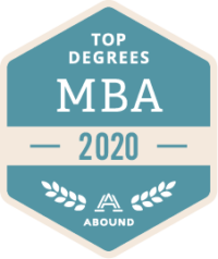 Abound 2020 Top Degrees MBA badge