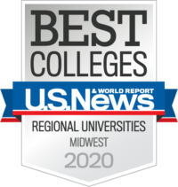 U.S. News and Report Best Colleges Regional Universities Midwest 2020 badge
