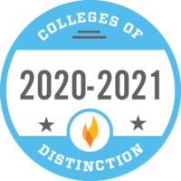 Colleges of Distinction 2020-2021 Recognition