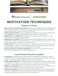 "Thumbnail image link to ""Motivation Techniques"" printable PDF."