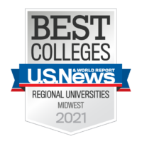 2021 U.S. News and World Report Best Colleges rankings badge for Best Regional Universities
