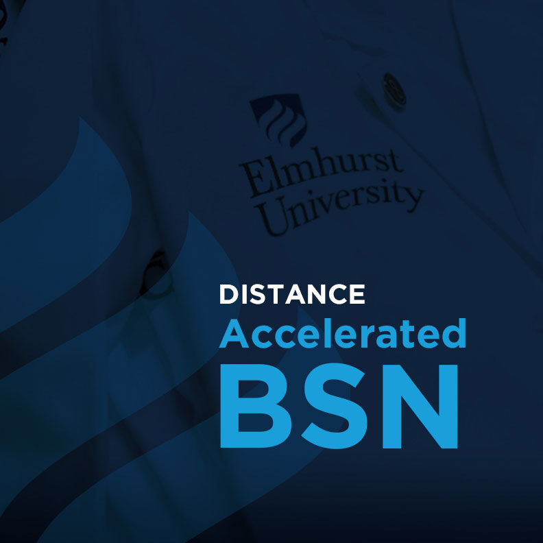 "Decorative image link in blue with the headline ""Distance Accelerated BSN."""