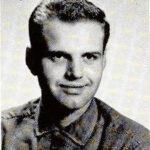 Yearbook photo of broadcaster Len Walter when he attended Elmhurst University.