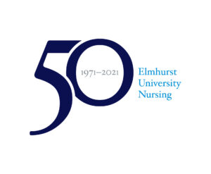 "Logo that reads ""50 (1971-2021) Elmhurst University Nursing"""