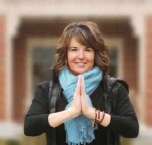 Elmhurst University alumna and yoga instructor Kristen Mimlitz.