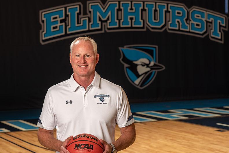 John Baines, head men's basketball coach at Elmhurst University.