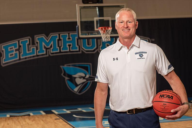 Jonh Baines, head men's basketball coach at Elmhurst University.