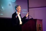 "Bill Nye, the star of ""Bill Nye the Science Guy,"" spoke at Elmhurst University in 2014."