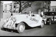 Historical photo of Elmhurst University Homecoming festivities.