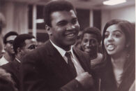 Boxing legend Muhammad Ali appears on the campus of Elmhurst University in 1969.